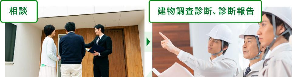 相談→建物調査診断・診断報告
